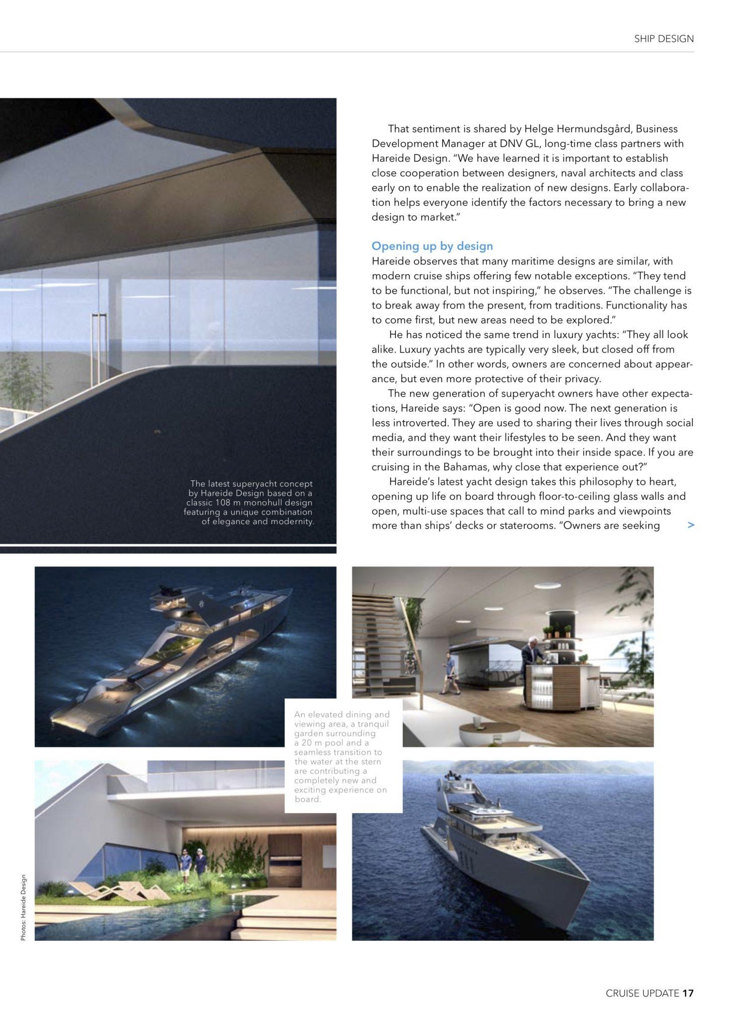Designing the future of cruise – Hareide Design